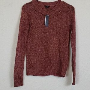 NWT theory knit open back sweater